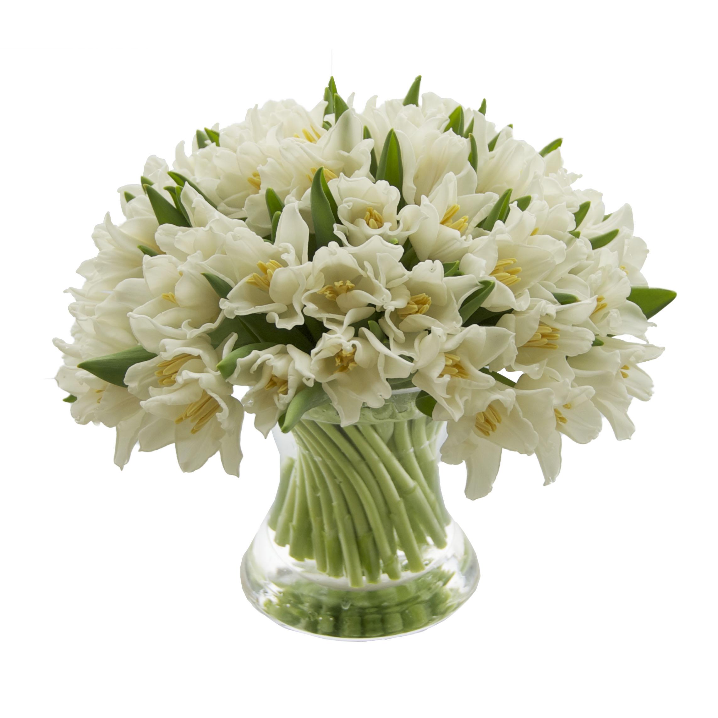 White Kissing Tulips