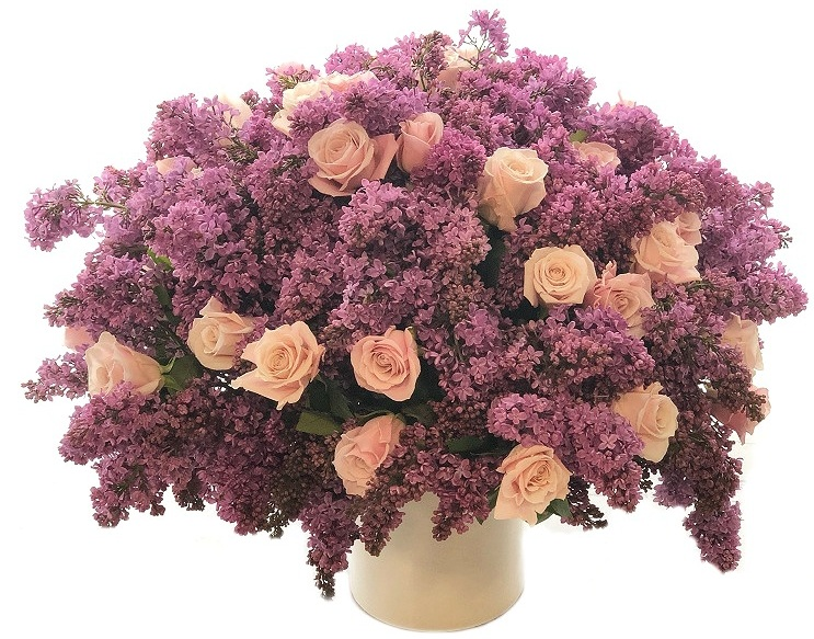Luxe Lilac and Rose Composition starting at $600