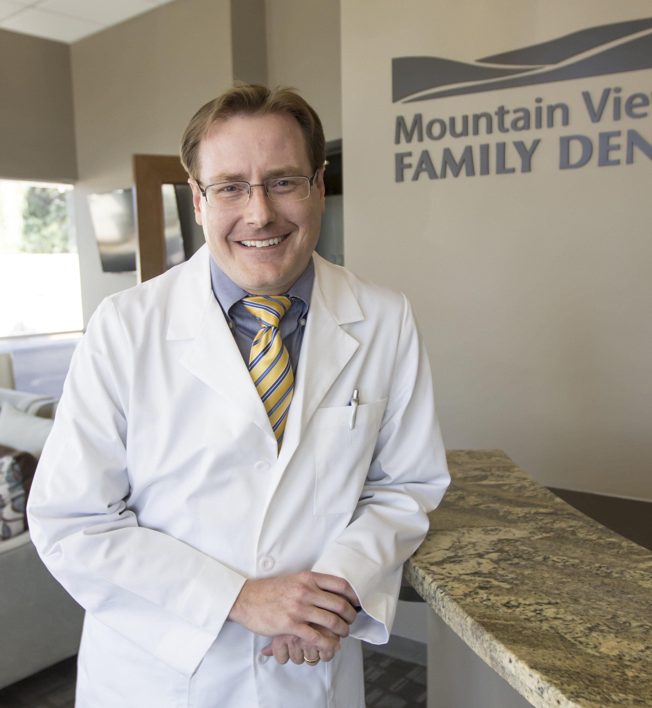 Meet Dr. Shayne Guffey at Mountain View Family Dental in Mesa, AZ.