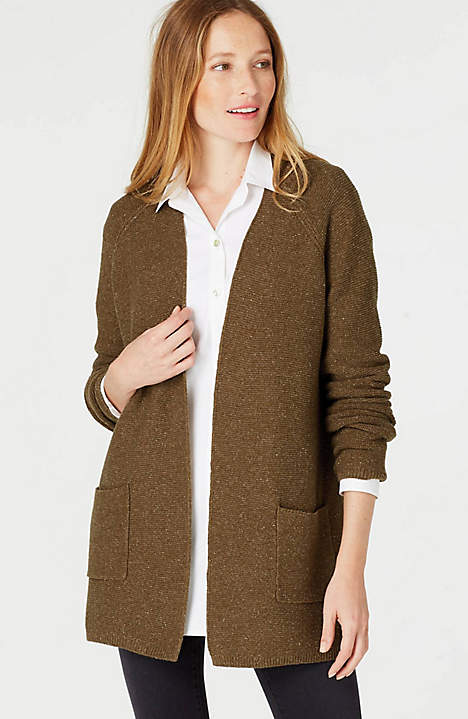 Tweed Open Front Cardi