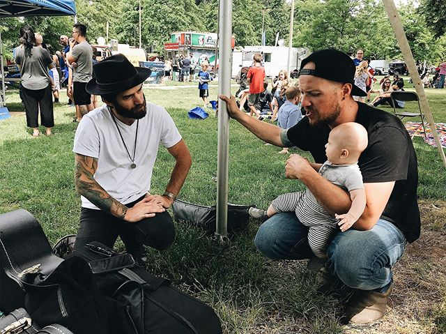 We LOVE having our pal and crazy talented musician friend @kylerpierce along for the ride as MUCH as possible. The next place you can catch us 3 (plus baby O of course) is at @fvfoodtruckfest June 15 & 16 . . June 15 - Douglas Park, Langley 11am-6pm June 16 - Maple Ridge Street Festival 11am-6pm