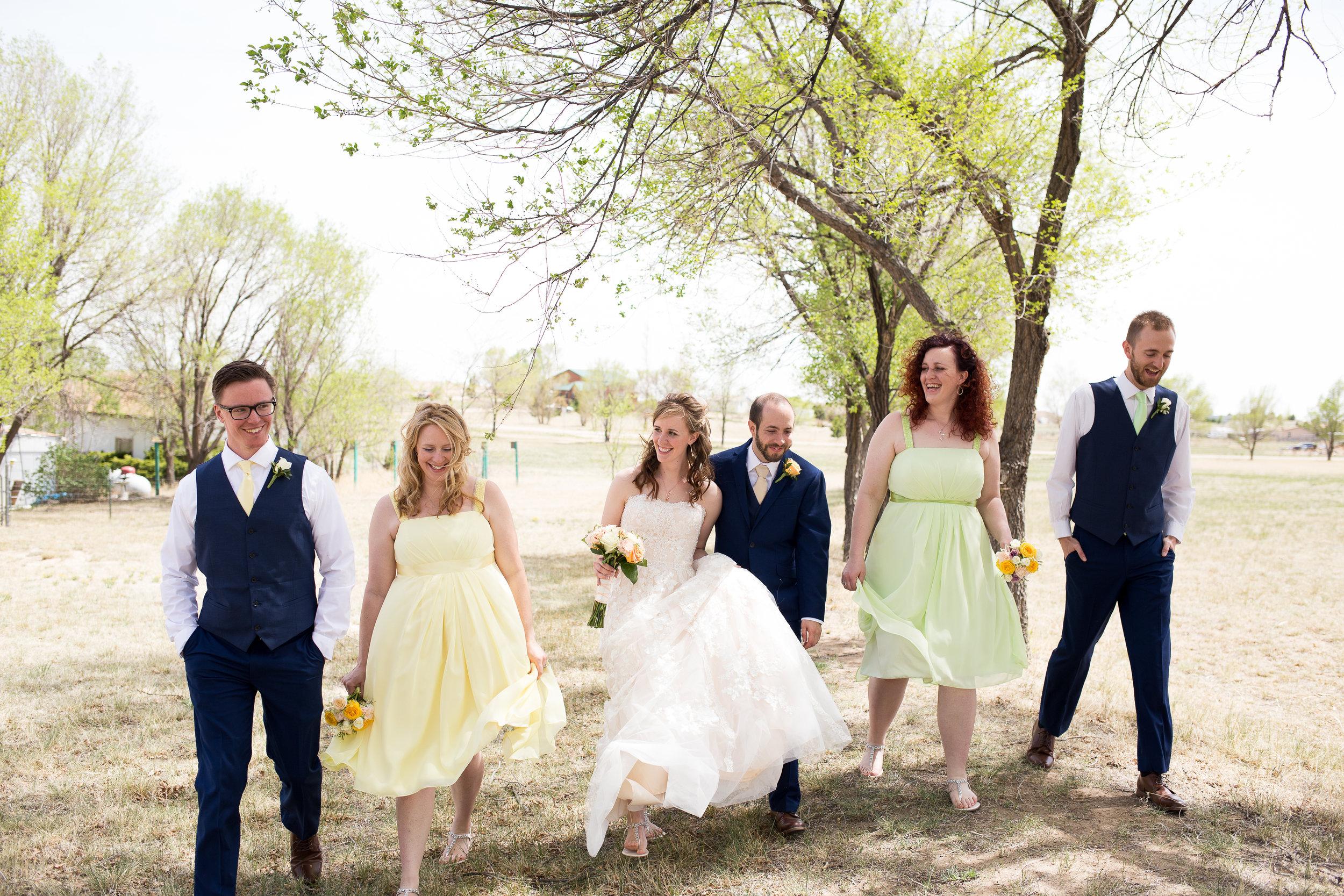 Spring wedding Colorado Springs bridal party Stacy Carosa Photography