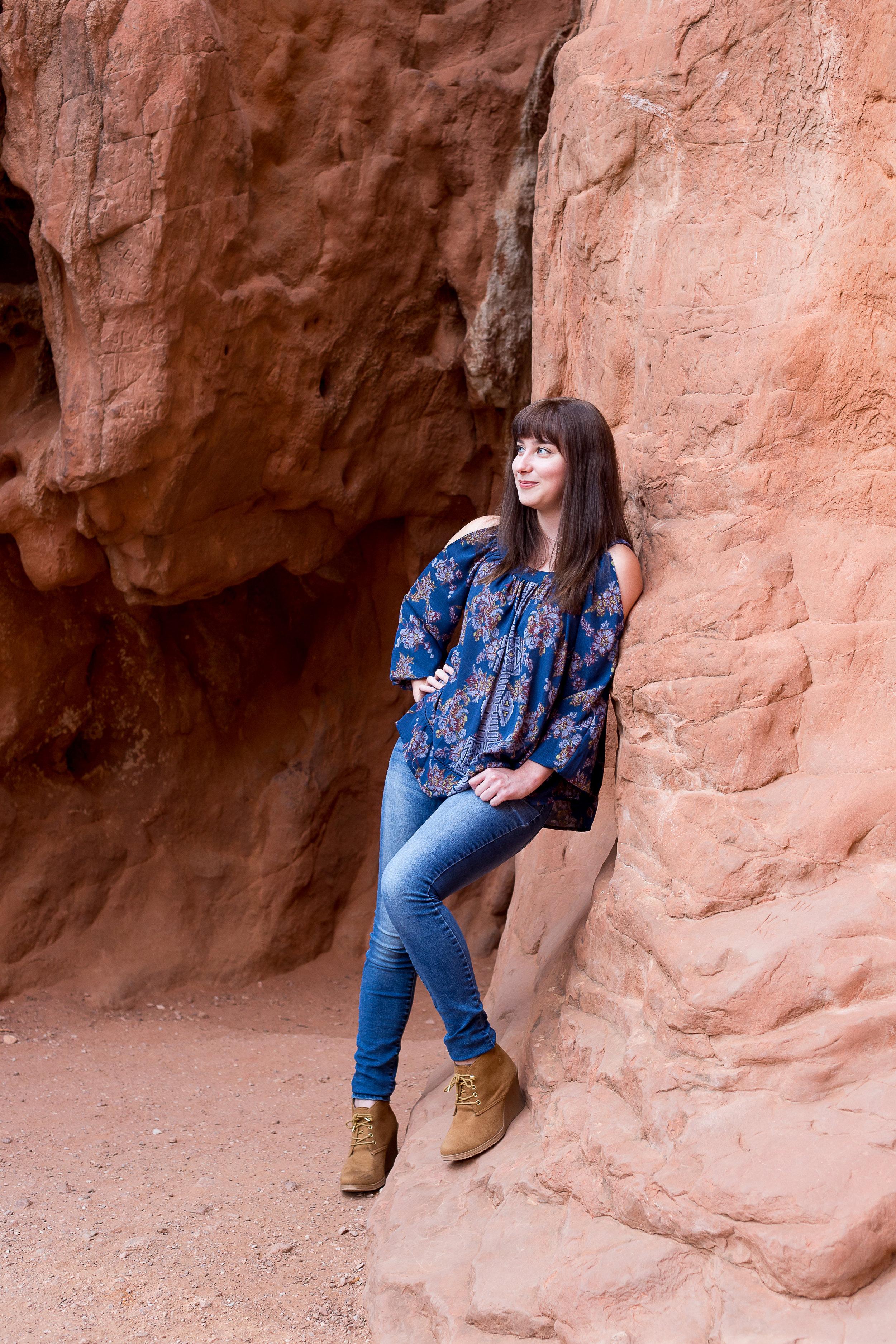 Colorado Springs Senior Portraits | Colorado Springs Garden of the Gods Senior Photography | Stacy Carosa Photography