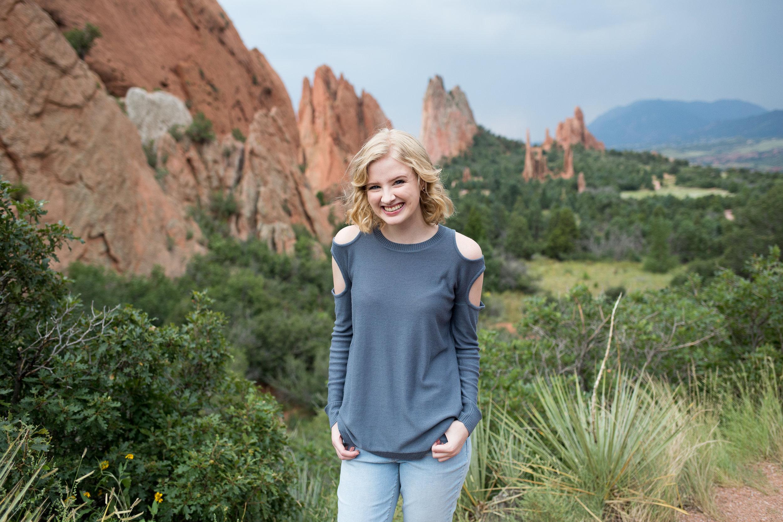 Colorado Springs Senior Portraits | Stacy Carosa Photography | Colorado  Springs Senior Photographer | Garden of the Gods Senior Session