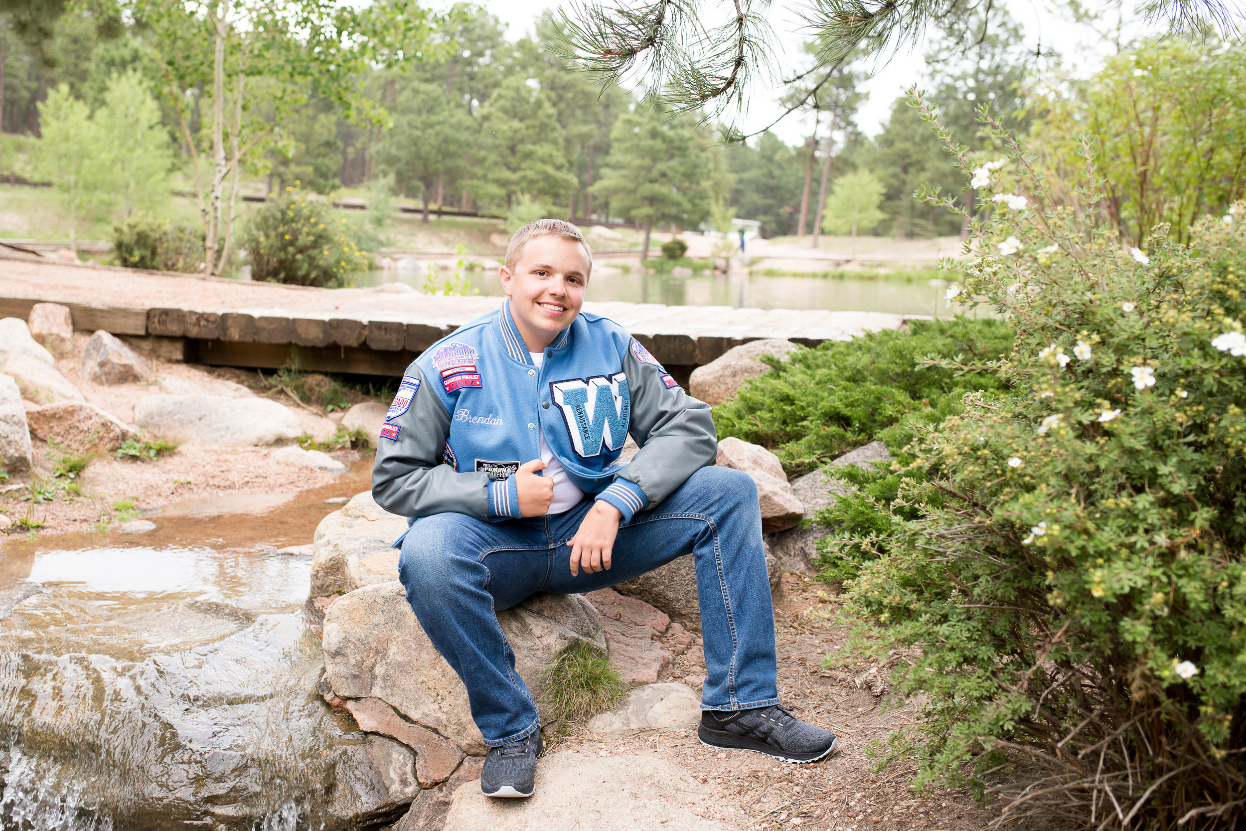 Widefield high s chool senior varisty jacket band | Colorado Springs Senior Photography | Stacy Carosa Photography | Colorado Springs senior photographer | senior session at Fox Run Park