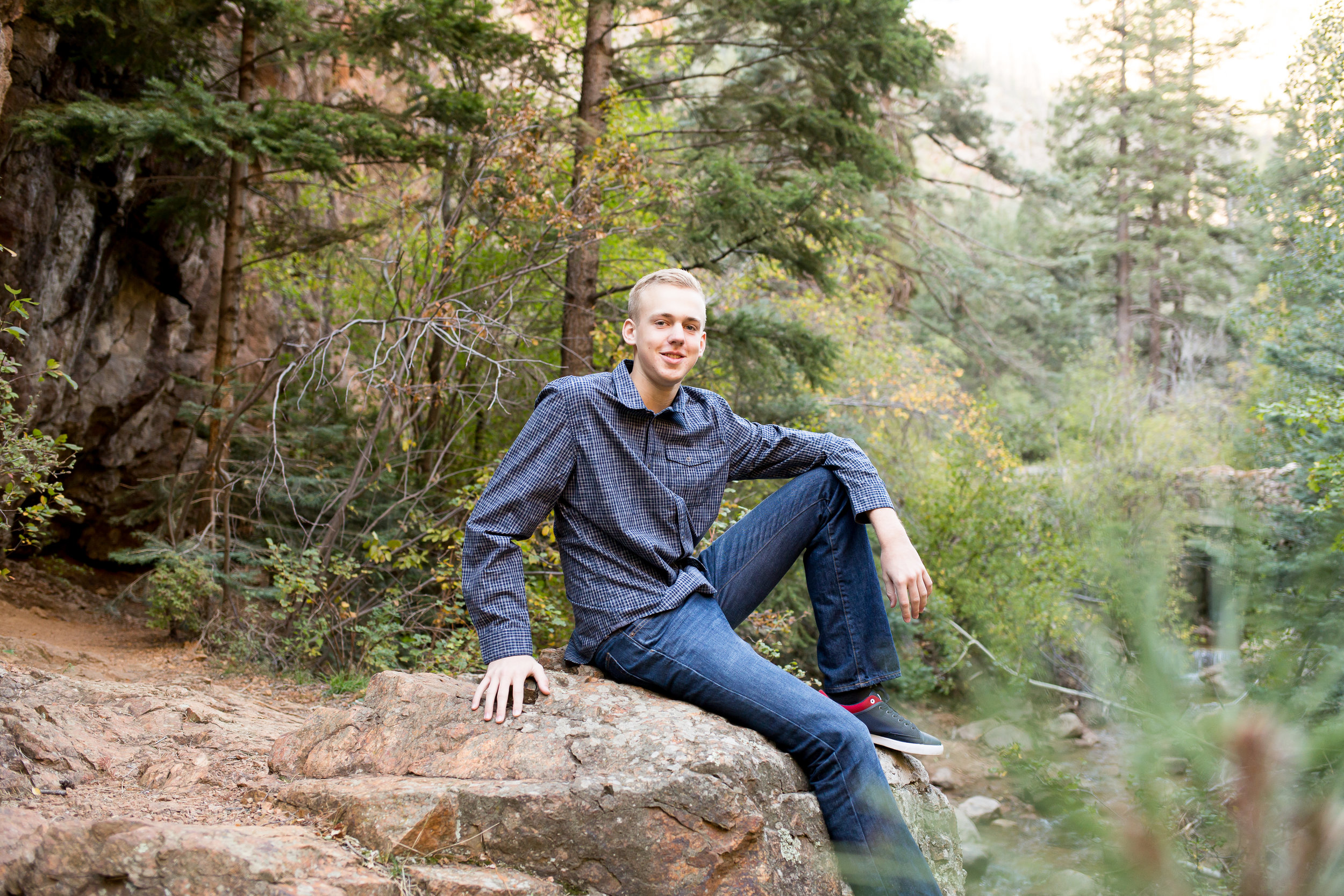 Colorado Springs Senior Photography | Widefield High School senior session in Cheyenne Canyon | Stacy Carosa Photography | Colorado Springs Senior Photographer