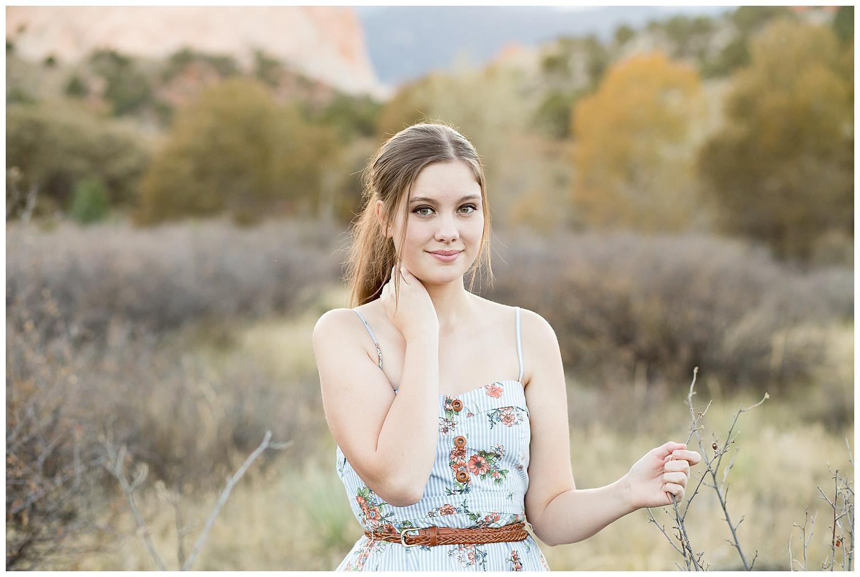 Colorado Spring Senior Photography Widefield High School at Garden of the Gods | Stacy Carosa Photography | Colorado Springs High School senior photographer