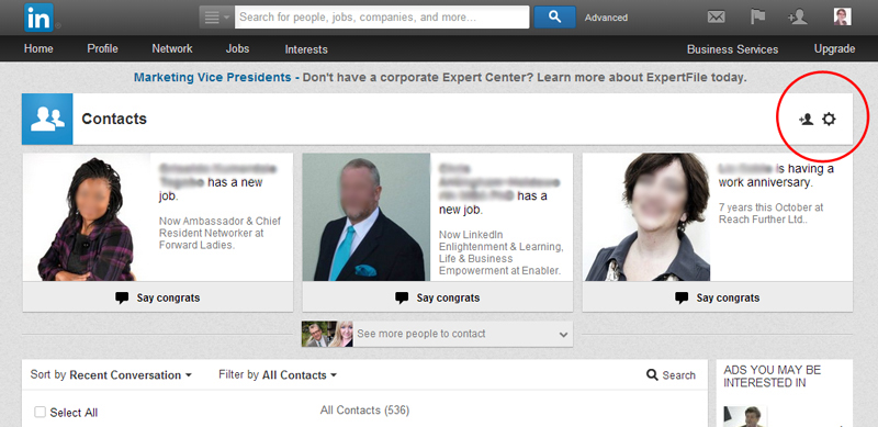 Export LinkedIn Contacts the new way
