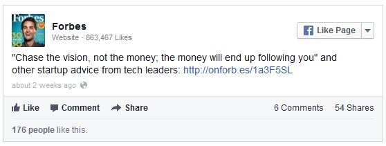 Facebook Embedded link in post