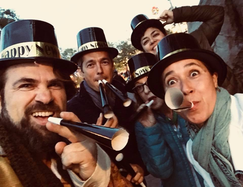 In between shows at Disney California Adventure Park. Ted Falcon, Nando Duarte, Fay Roberts Clarice Cast and Katia Moraes.