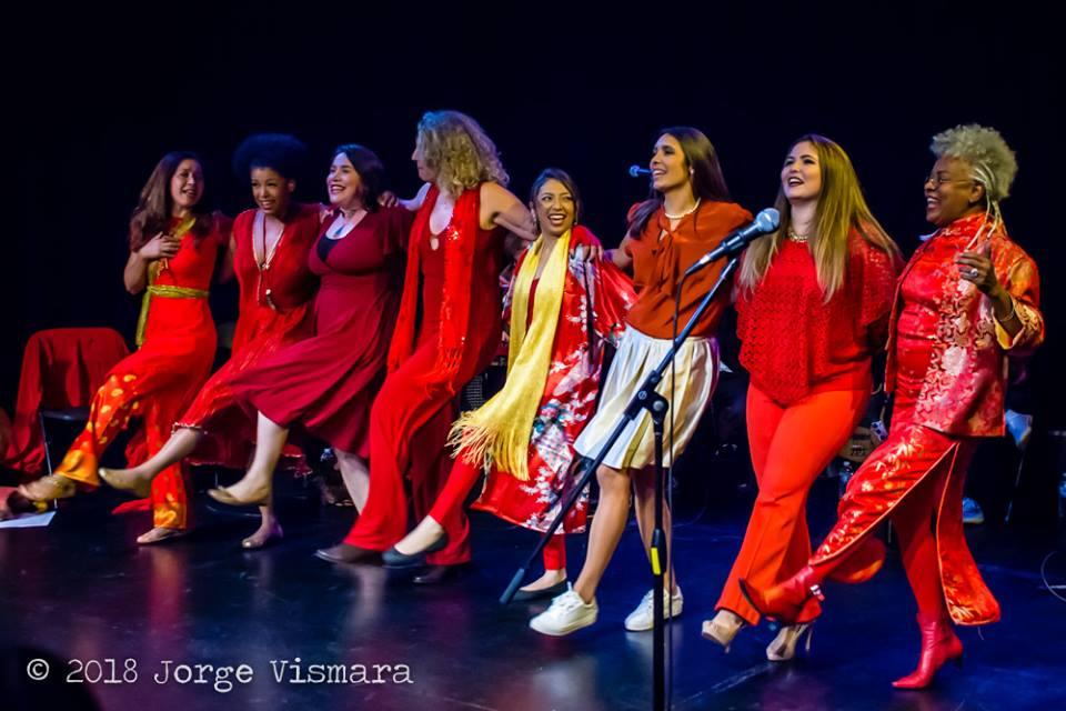 The 7th Brazilian Heart Celebration @ Kelman Theater. Katia Moraes, Thalma de Freitas, Mariana Leite, Ana Gazzola, Nana Nuki, Marcele Berger, Natalia Spadini and Sonia Santos.