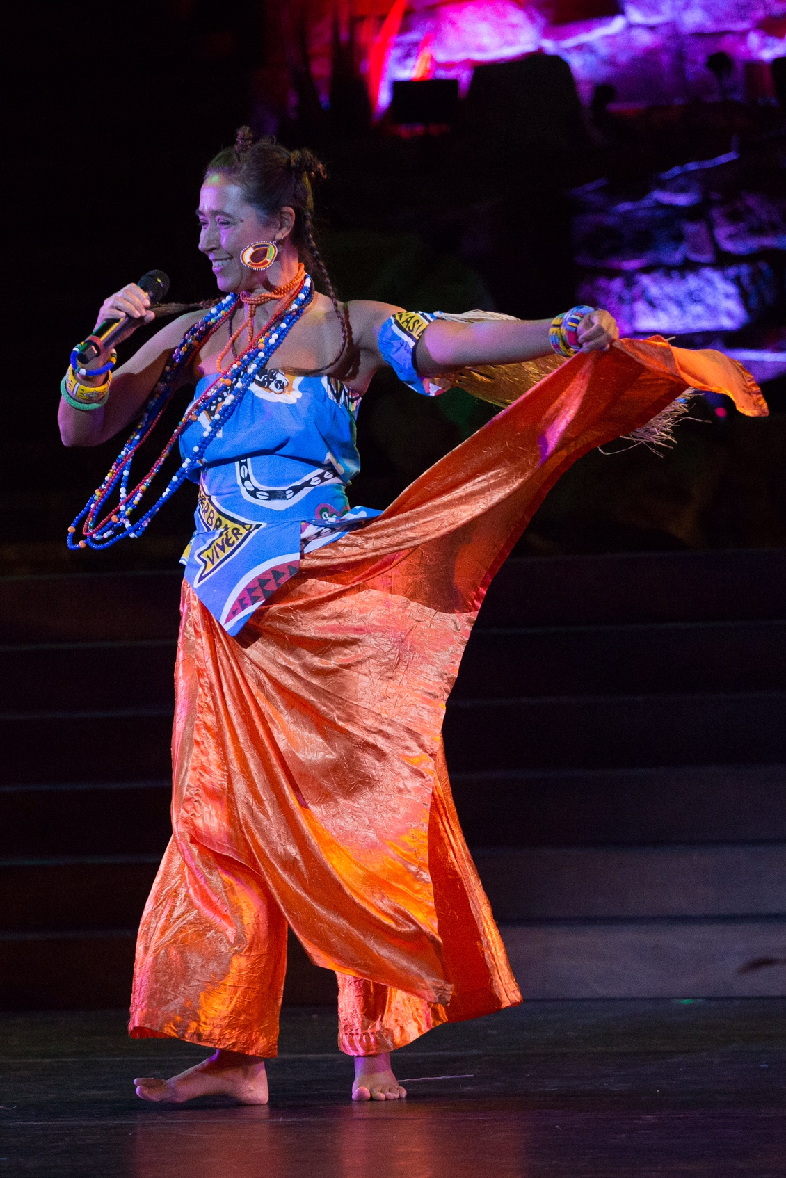 Performing at Ford Theatre with Viver Brasil Dance Company. Photo by Gia Trovela