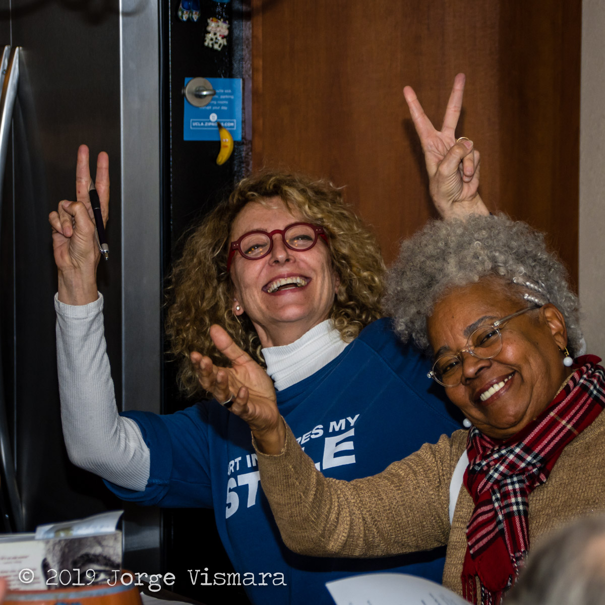 Ana Gazzola and Sonia Santos. Supporters and part of the cast since 2016!