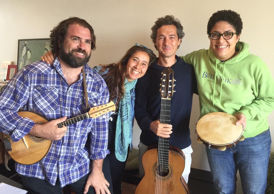 Ted Falcon, Nando Duarte and Clarice Cast.