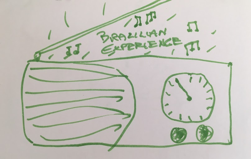 Drawing by an audience member during the performance at Thousand Oaks Library.