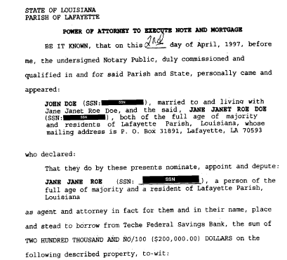 example of redacted sample document