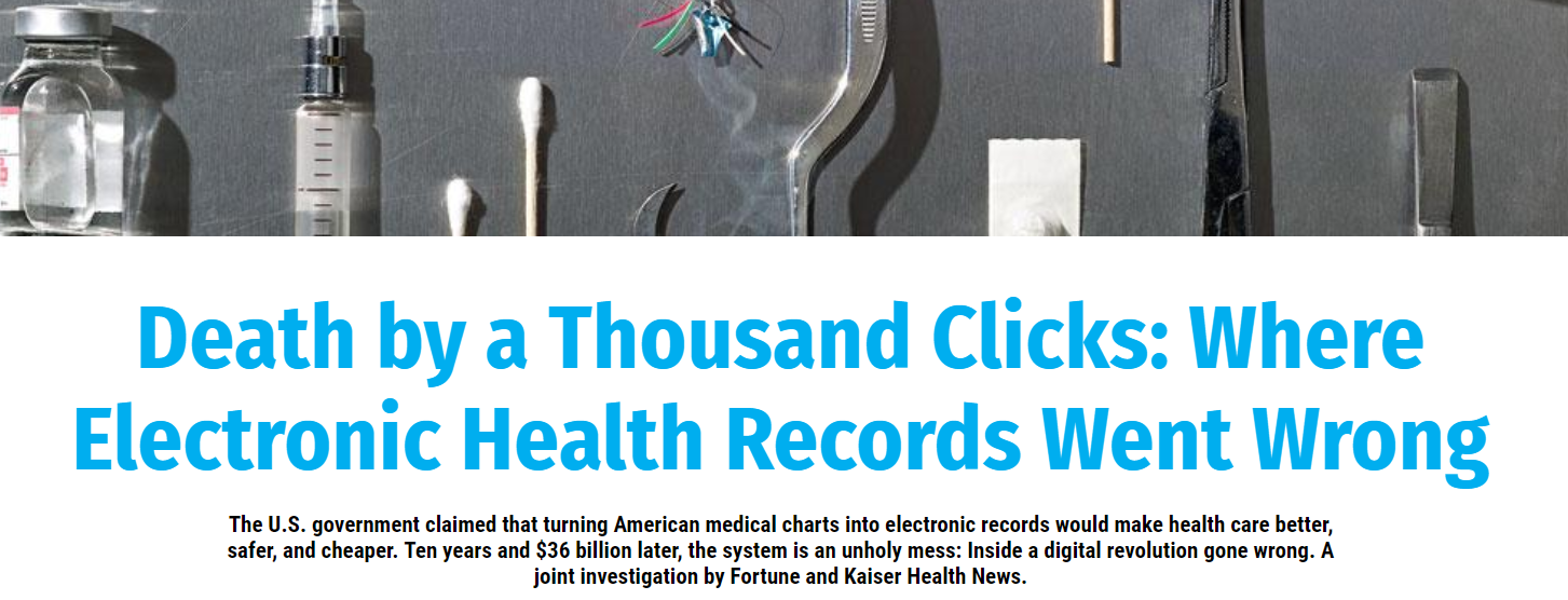 Fortune's Longform on EHRs