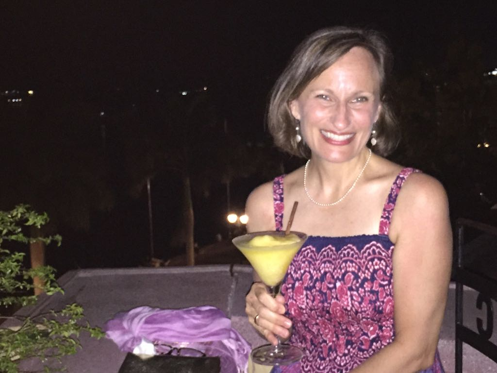 A fresh mango daiquiri at the Phnom Penh Foreign Correspondents Club (first date night in three months!)