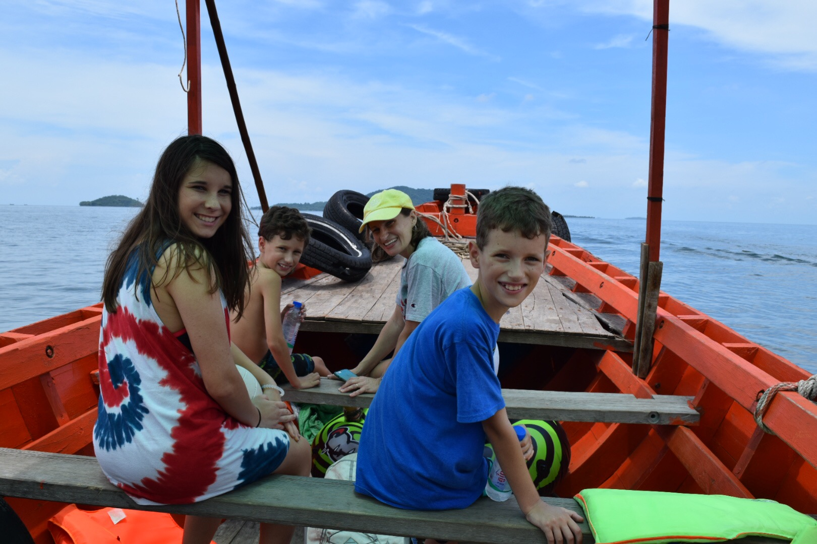 A longboat is a great way to get around.