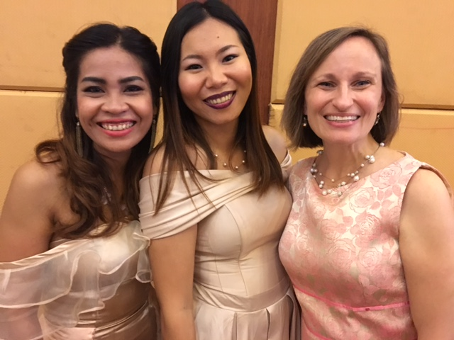 Thais with two of our friends from the office.