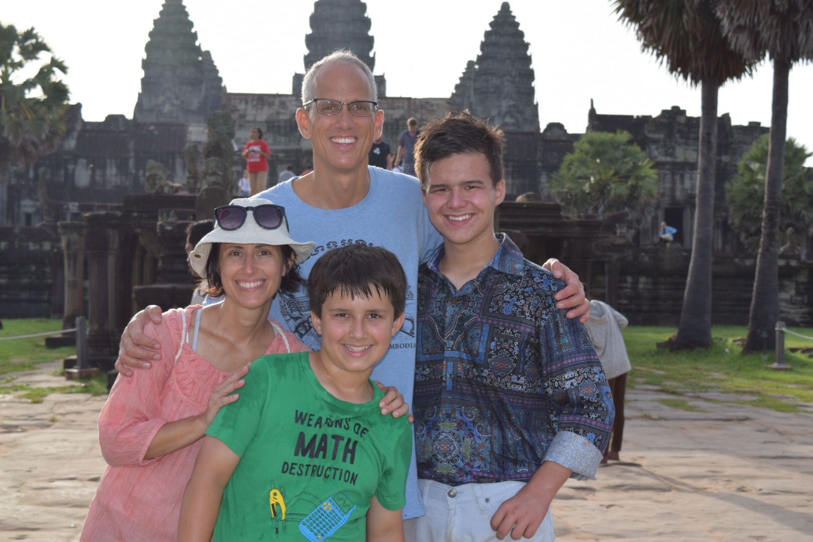 A morning with the Baskins at the world's largest religious structure -- the magnificent Angkor Wat.