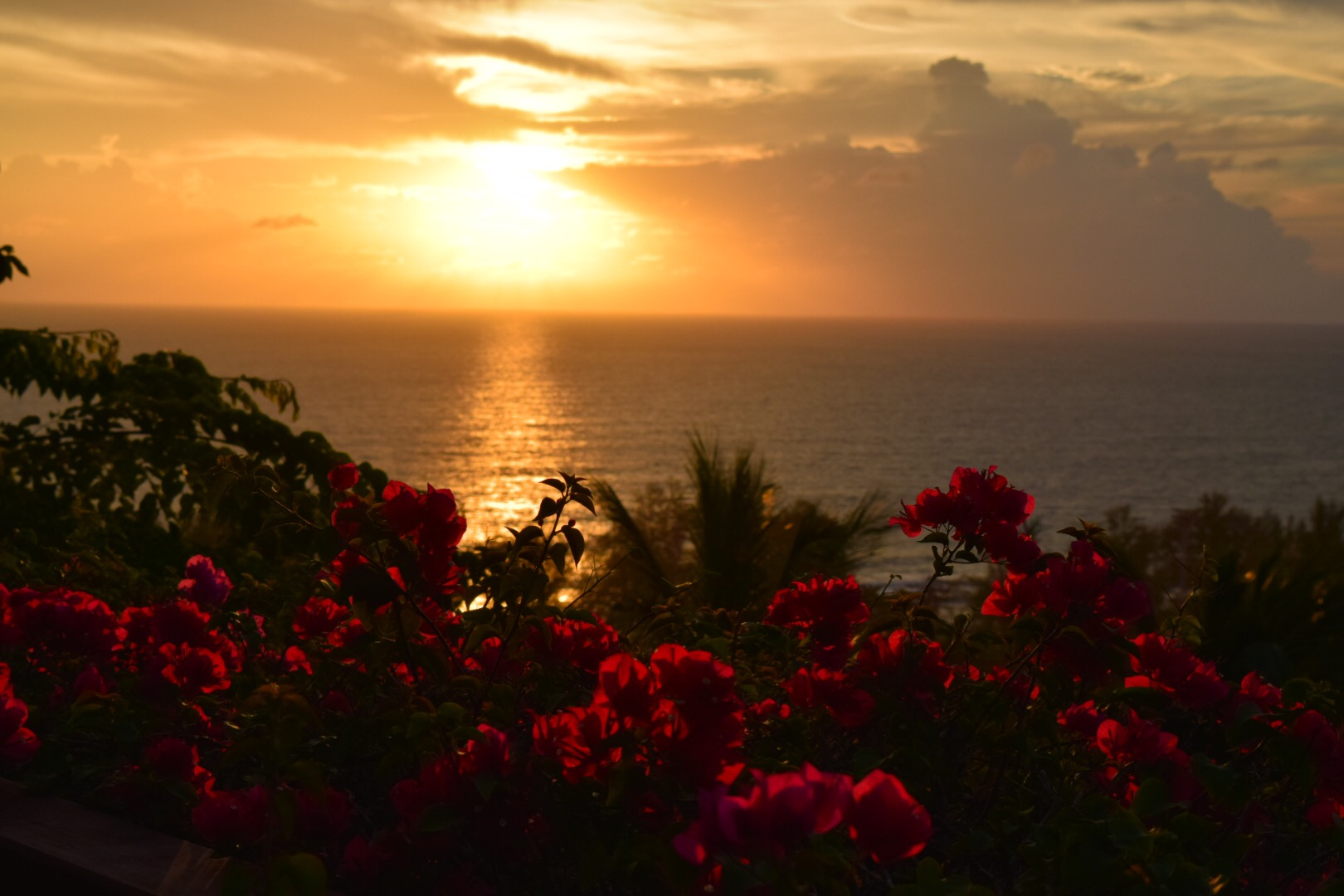 A gorgeous sunset from our Phuket rental house overlooking the Andaman Sea.