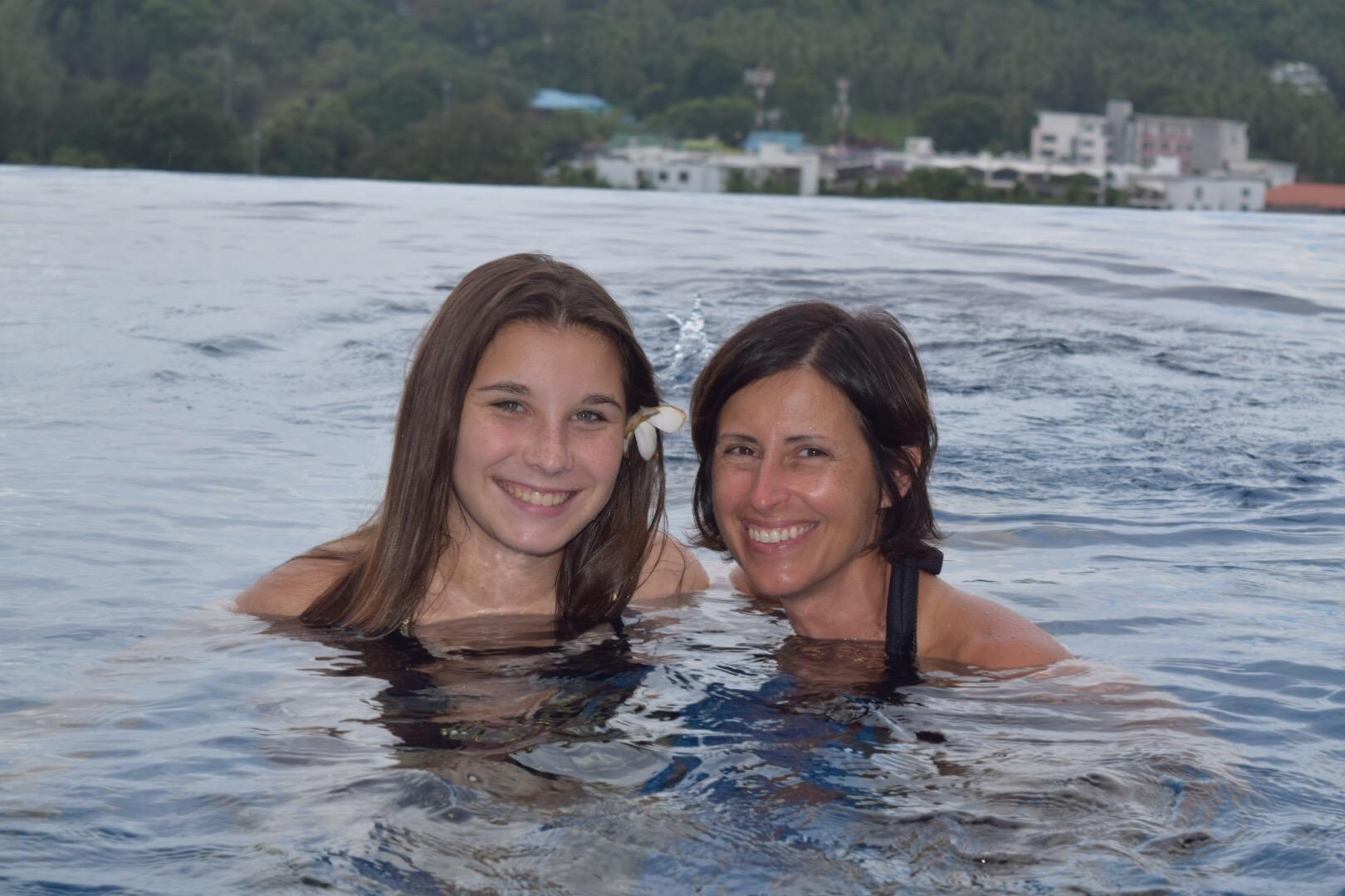Naeda and Joy, enjoying a swim.
