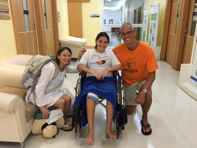 Naeda wins the prize -- first Kilday recipient of an ambulance ride and ER services in a foreign country!