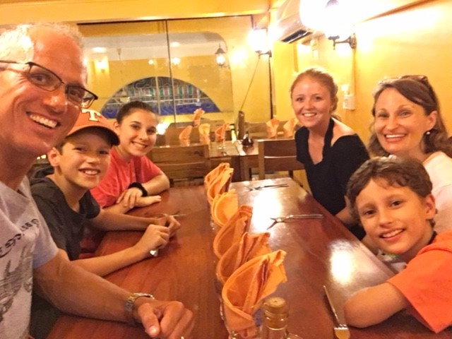 Dinner with Audrey Doak at Luigi's Pizza -- a local favorite.