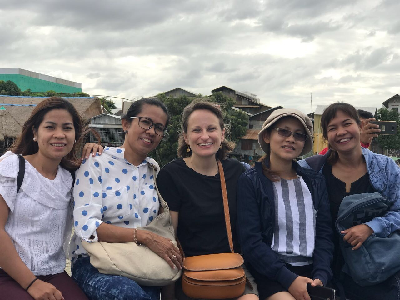 Thais with some of our wonderful work colleagues at the IJM retreat, on a tour of Silk Island.