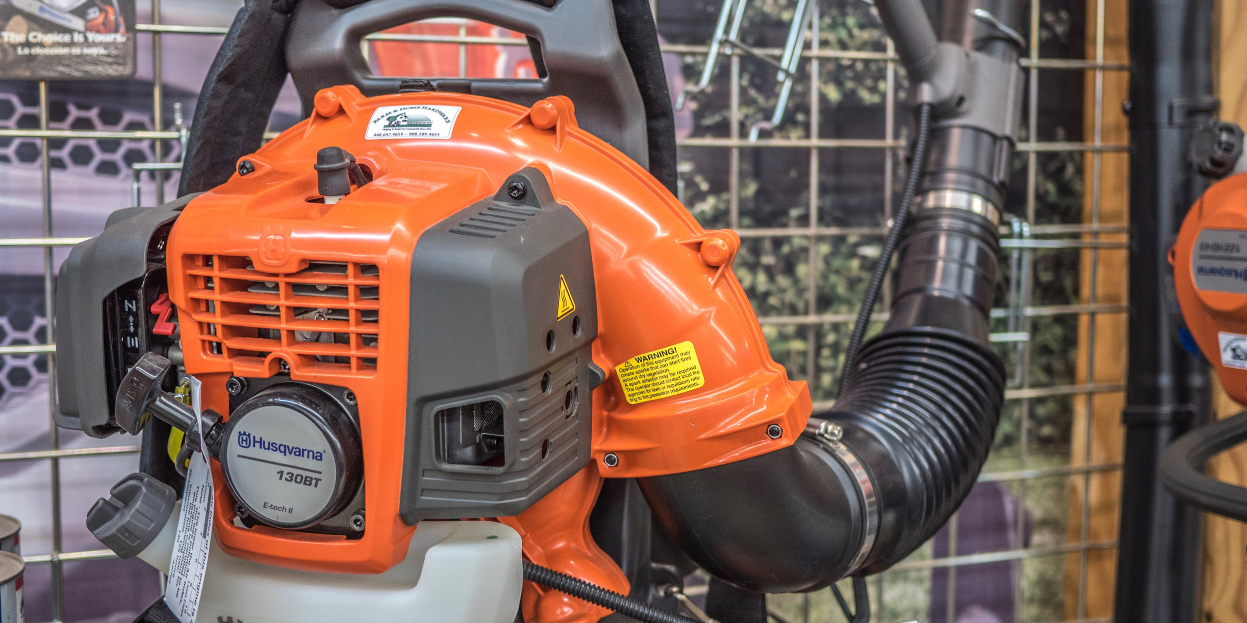 •Looking for a blower? This department includes a wall dedicated to just that. We carry everything from small handheld models, to medium duty backpack units. - *Financing may be available on select models