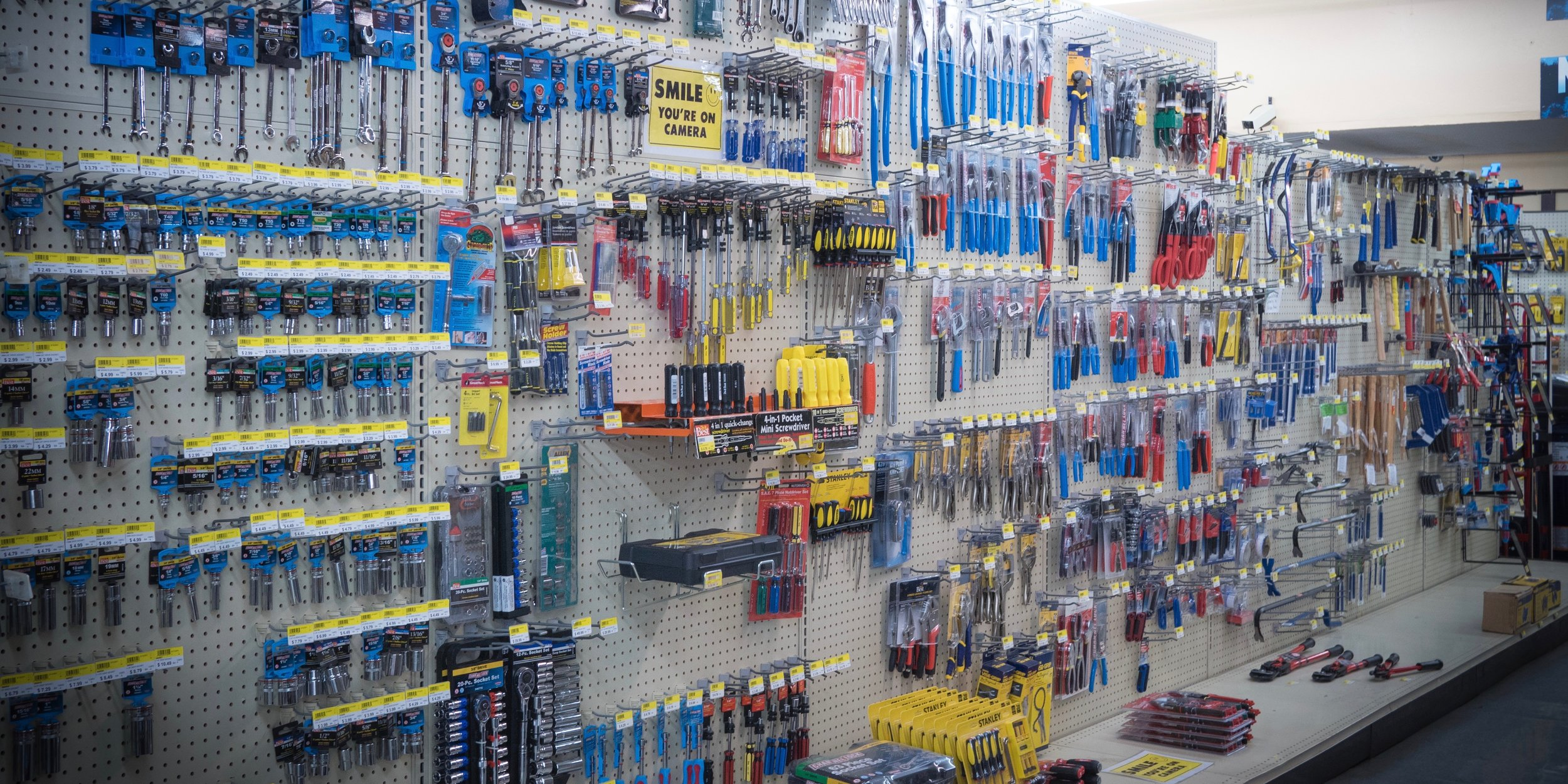 Hand Tools, Hammers, Drivers, saws, and more.