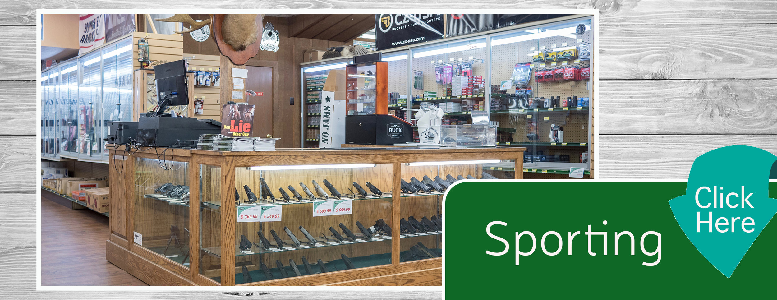 Sporting Goods Home Page Banner