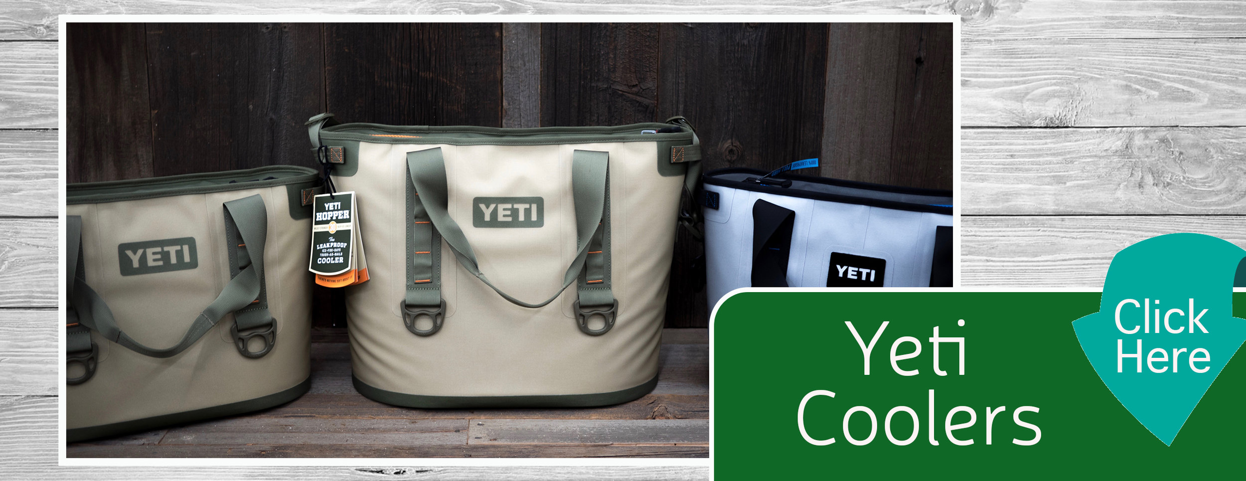 Yeti Coolers Home Page Banner