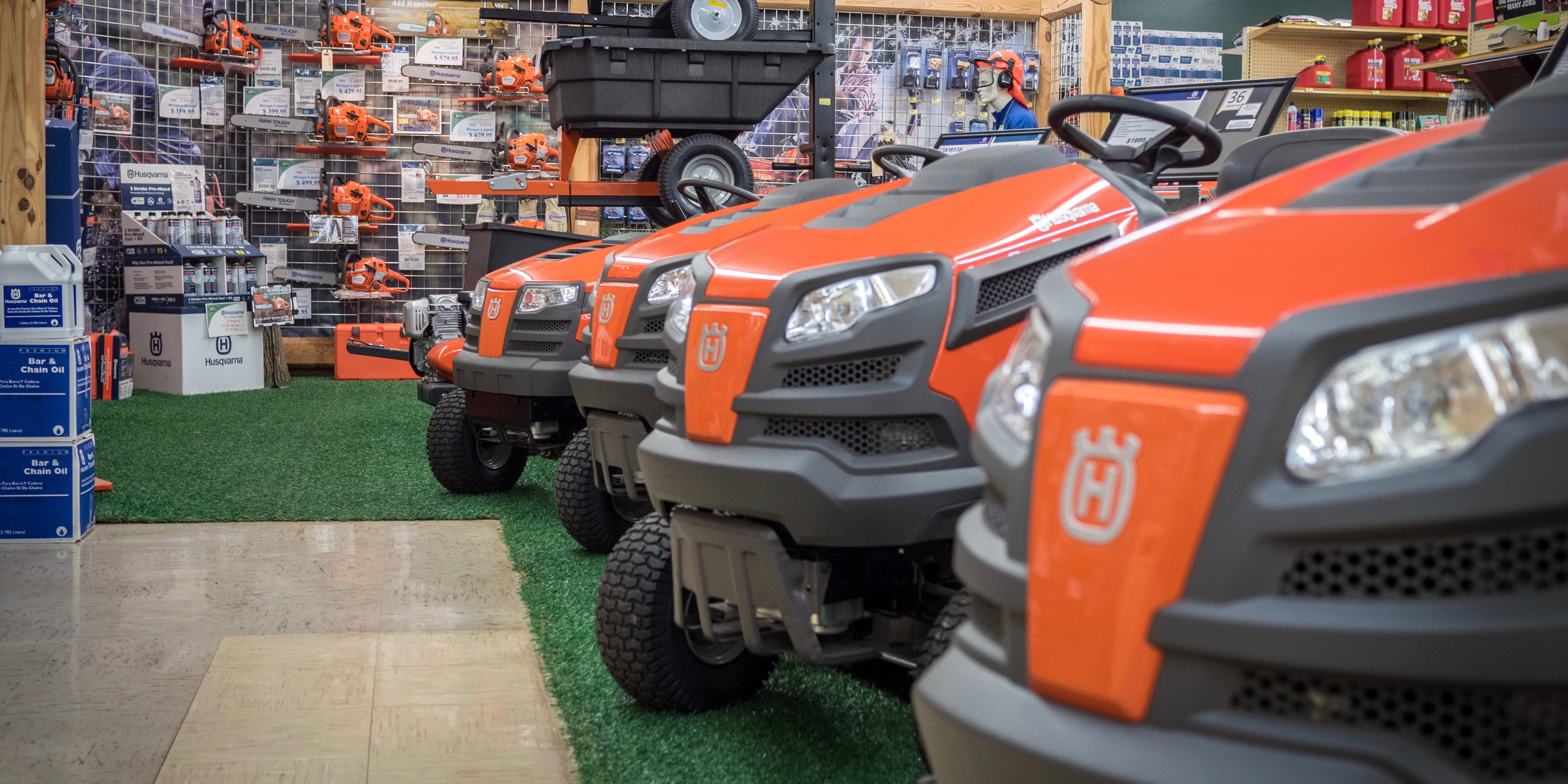•Whether you are a new homeowner, or just looking to replace that old mower, rest assured we have options for you to choose from. -