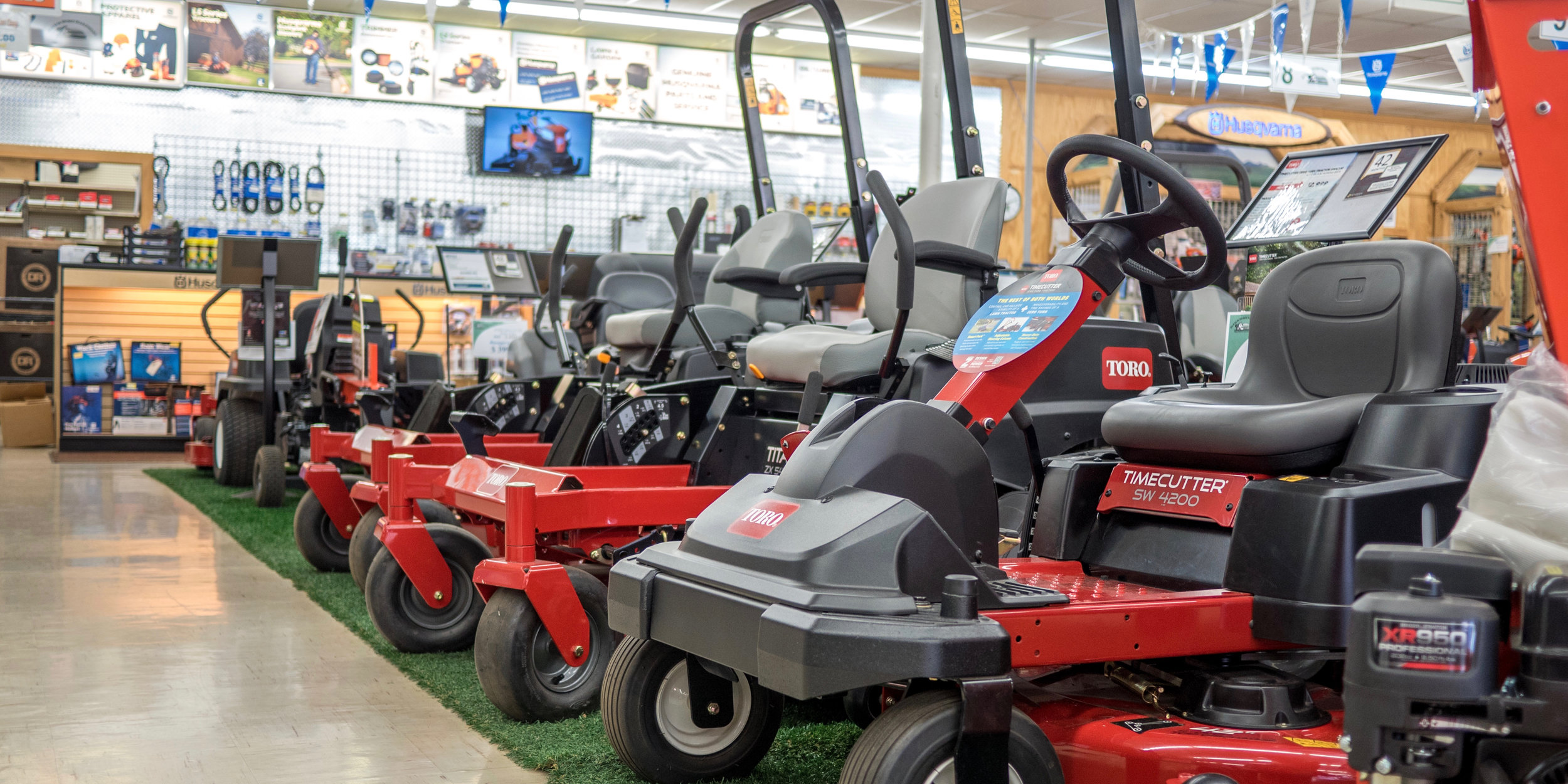 •Our Showroom holds various models from Toro, giving you options to choose from. -