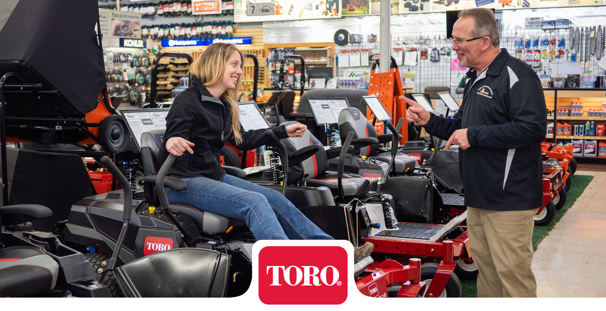 Toro lawn mowers for sale at Farm & Home Hardware.