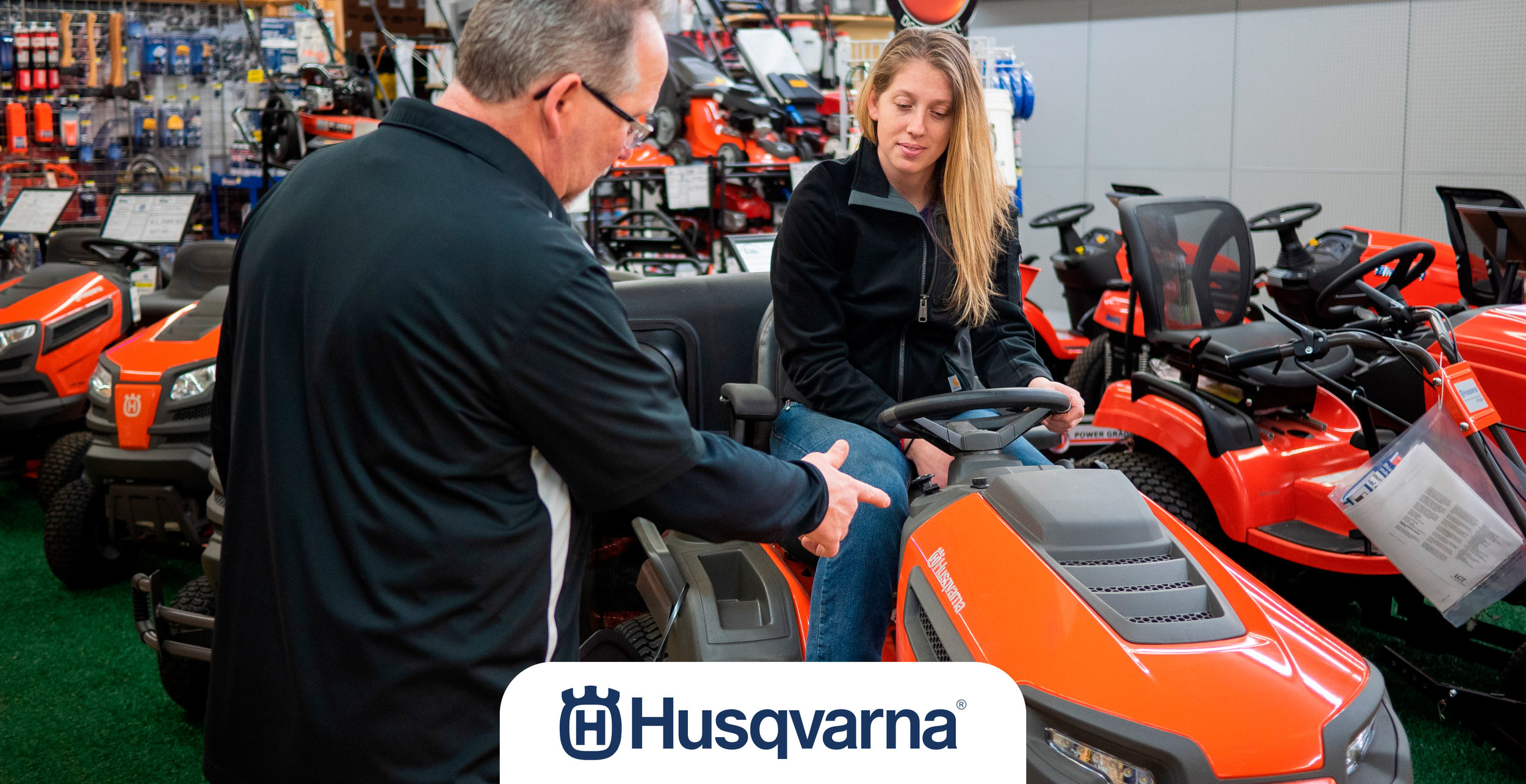 Husqvarna lawn mowers for sale at Farm & Home Hardware.