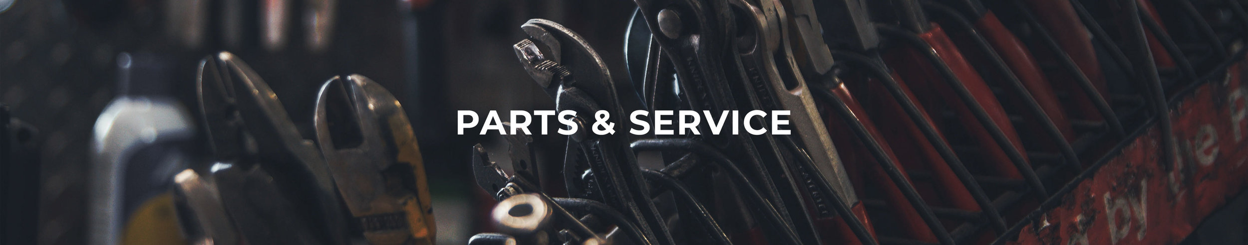 Parts & Service header image for mower repair shops near Wellington and Ashland, Ohio.