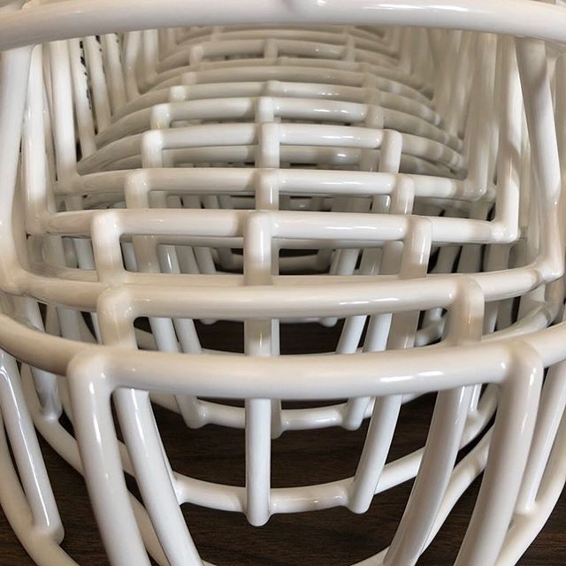 The #Bearcats have a shipment of icy-white facemasks headed their way!  Thanks to Tucker and @BearcatEQ for allowing us to recondition and NOCSAE re-certify their equipment for the upcoming season. #northwestmissouristatebearcats #bearcat #redzonereconditioning
