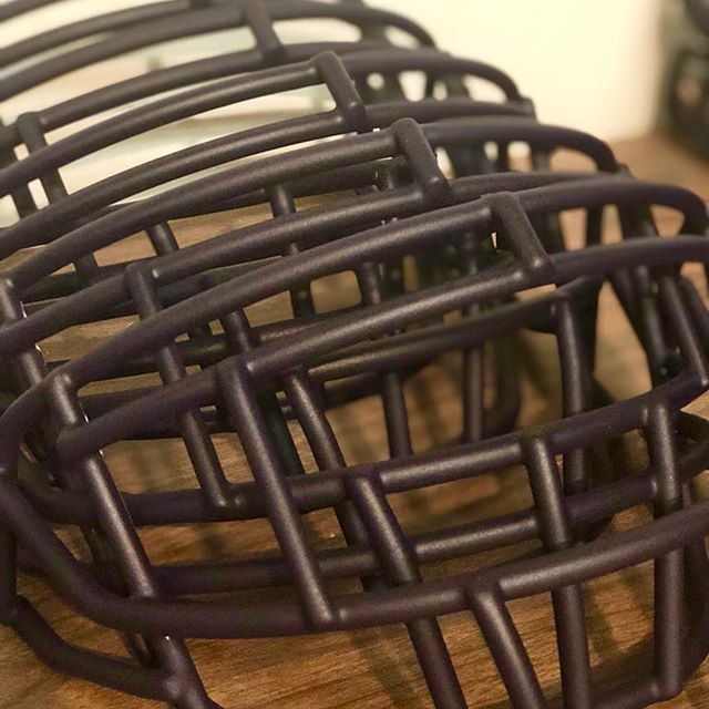 We completed the MATTE PURPLE football face masks for John and the @grov3143 equipment staff at College of Idaho. As always, thanks for trusting in us year after year for your reconditioning needs!  Go #Yotes