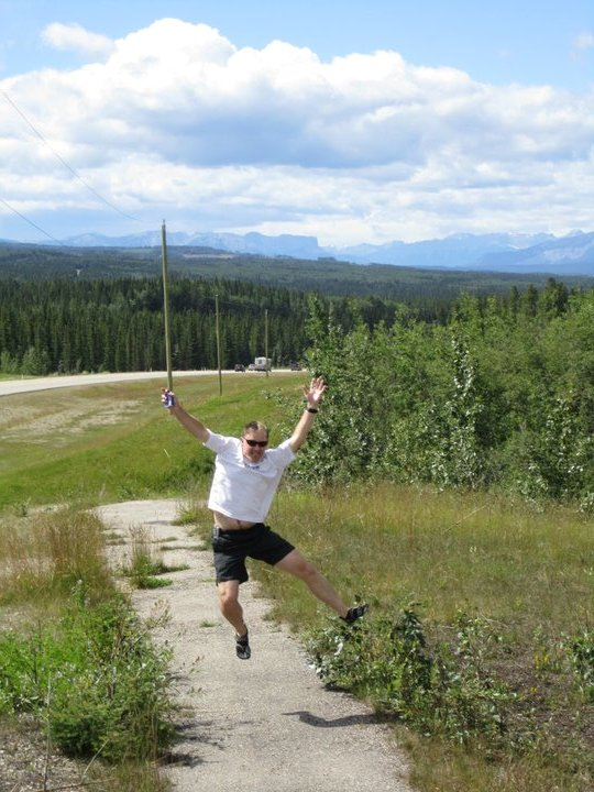 On the way to the Canadian Death Race with I Challenge Diabetes (Grande Cache, British Columbia, Canada)
