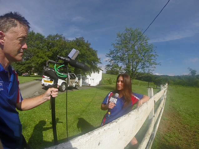 Assisting Jennifer Salazar with Media 1 during the Race Across America (Maryland)