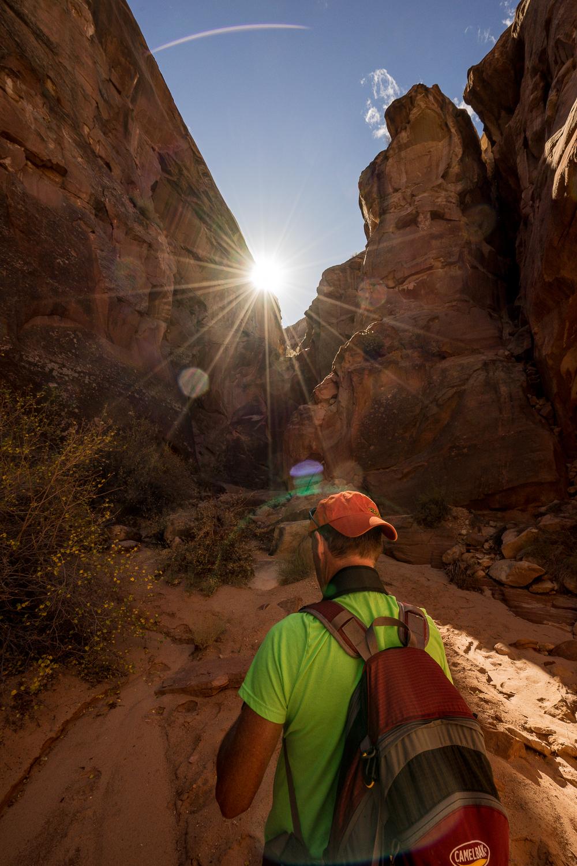 Canyoneering in Utah. Photo taken by Eric Peffer