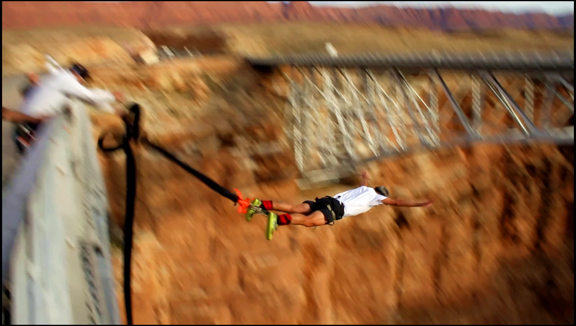 Navajo Bridge Bungee Jump - Snapshot taken from my Canon 7D. Filmed by Sean Crosby.