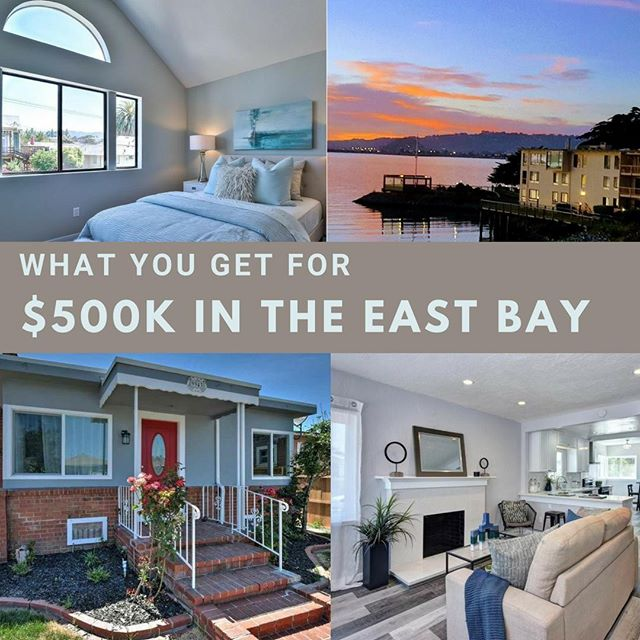 """What does $500,000 get you in the East Bay? A cross section of 1-2 bedroom condos with amenities, some outdoor space and smaller """"modicum of charm"""" single family homes, some updated. Here are a few of over 58 currently for sale in this price point in #Oakland #Berkeley #Alameda #Emeryville  TIPS: Consider homes in a price point lower than your loan amount. Review comps and recent sales along with your agents local market knowledge to arrive at a home value and expect to leave room in your bid to make a competitive offer.  Connect for OPEN HOUSE times and private showings  Link in Bio  EMERYVILLE 1 Captain Dr #D251 1 Bed 