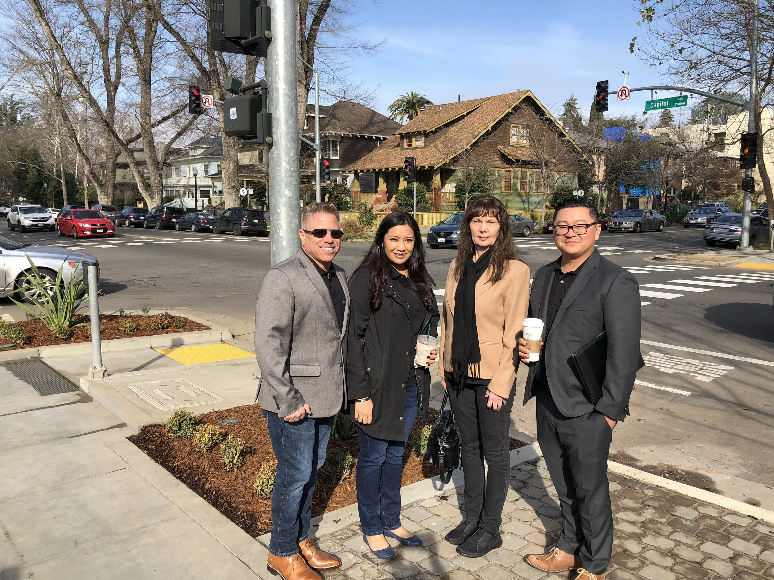 Pictured left-to-right Michael Ocasio, President/CEO, Maria Lopez, Loan Administrator, Pam Finn, Chief Operations Manager and Richard Lee, Vice President