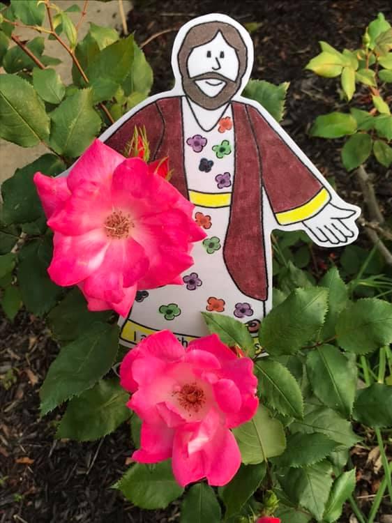 In Mother Val's garden