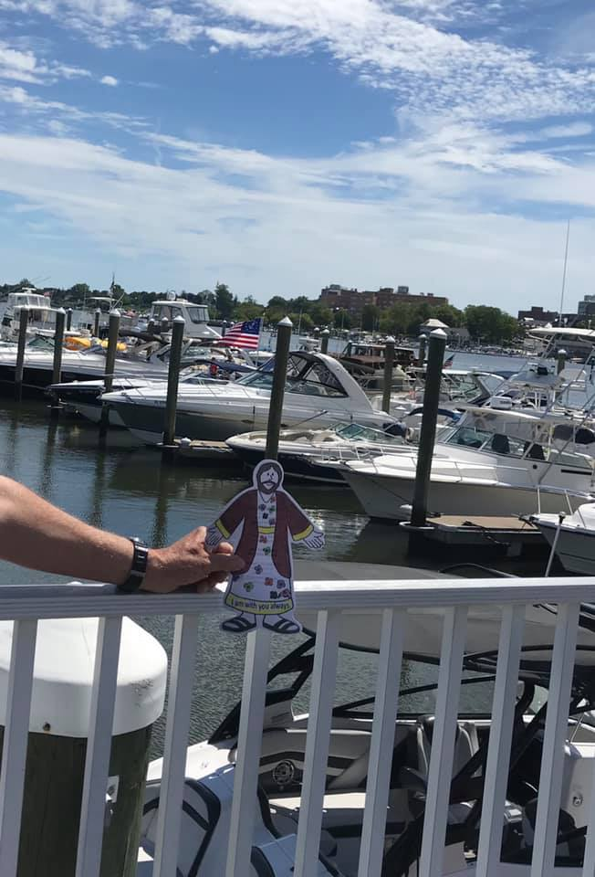 Joining Mother Val for the blessing of the fleet at Molly Pitcher Yacht Club