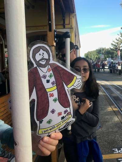 On a San Francisco cable car